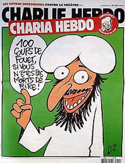 Wiele kontrowersji wywołała okładka przedstawiająca karykaturę Mahometa