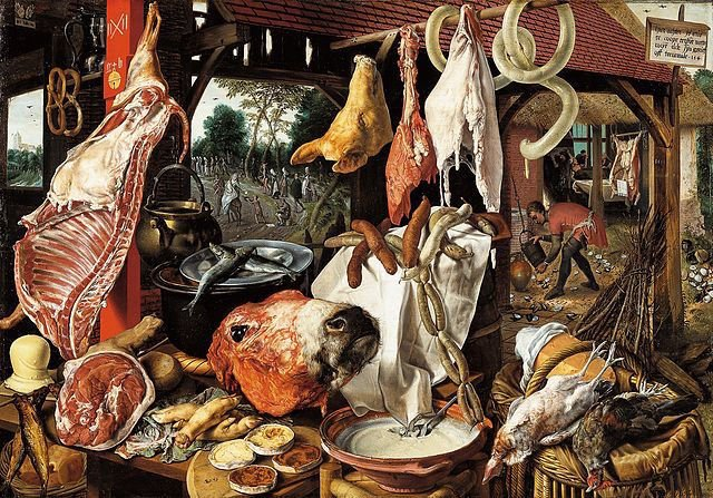 Butcher's Stall with the Flight into Egypt, Pieter Aertsen, 1551