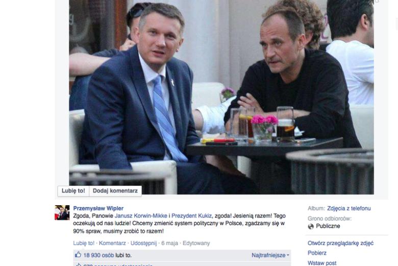 Przemysław Wipler chce koalicji partii KORWIN z Pawłem Kukizem