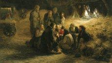 """Grigorij Miasojedow, """"Czytanie oświadczenia 19 lutego 1861 roku"""" (1873)"""
