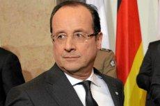 """Prezydent Hollande """"dołuje"""" w sondażach zaufania"""