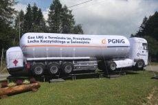 Cysterna z gazem LNG pochodząca z Terminalu im. Lecha Kaczyńskiego.