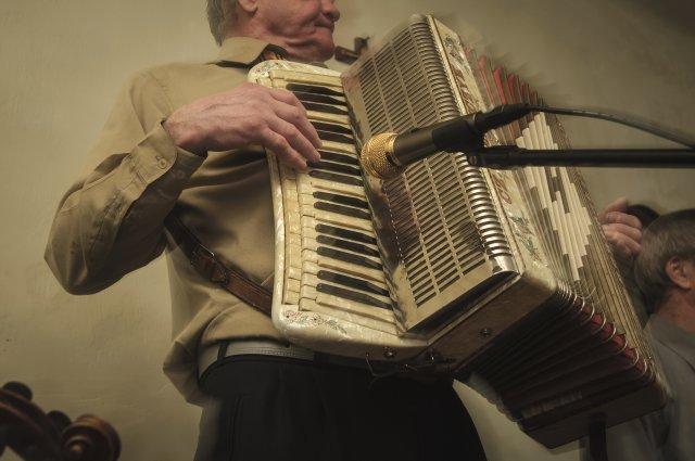 harmonista Tadeusz Lipiec / zabawa w Wygnanowie
