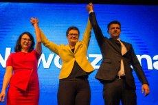 Adam Kądziela odchodzi z Nowoczesnej. Według ostatniego sondażu partia ma tylko 4 proc. poparcia. Na zdjęciu: Kamila Gasiuk-Pihowicz, Katarzyna Lubnauer i Ryszard Petru.
