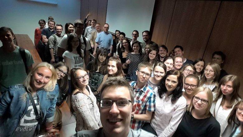 spotkanie ze studentami w Warszawie