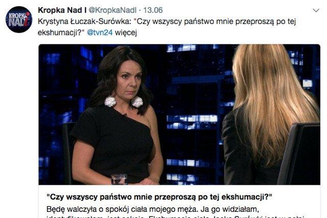 Część internautów skupiła się na wyglądzie Łuczak-Surówki, a nie na tym, co mówiła.