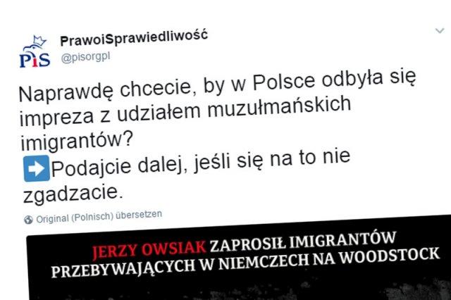 Prawo i Sprawiedliwość na Twitterze przekroczyło wszelkie granice hejtu atakując Jerzego Owsiaka i Przystanek Woodstock.