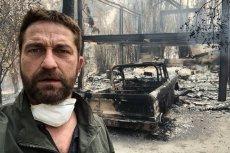 Pożary trawią Kalifornię. Aktor Gerard Butler po powrocie do domu zastał same zgliszcza