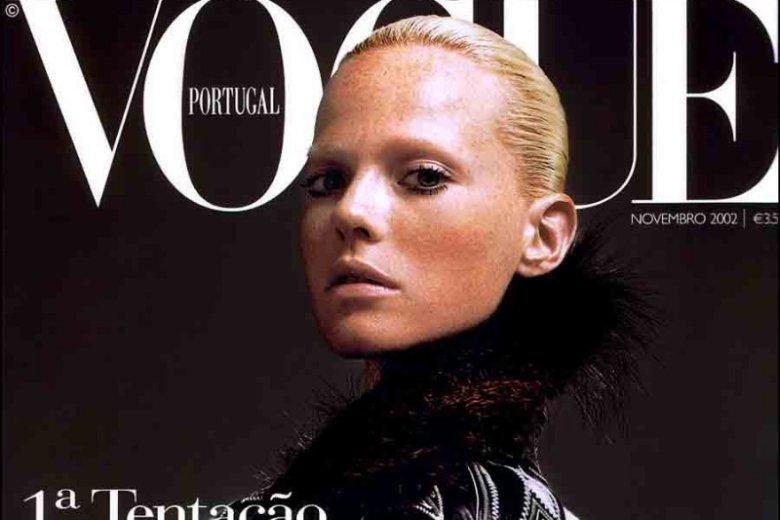 Okładka Vogue Portugal to klasyczny portet, przypominający dzieła malarskie