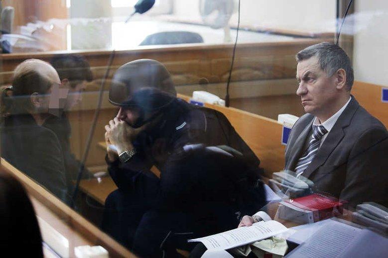 Brunon Kwiecień podczas procesu sądowego.