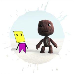 Programmer Art - tak kiedyś mógł wyglądać słynny Sackboy z gry Little Big Planet.