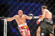 Marcin Najman walczy z Przemysławem Saletą podczas zeszłorocznej gali MMA na Torwarze w Warszawie