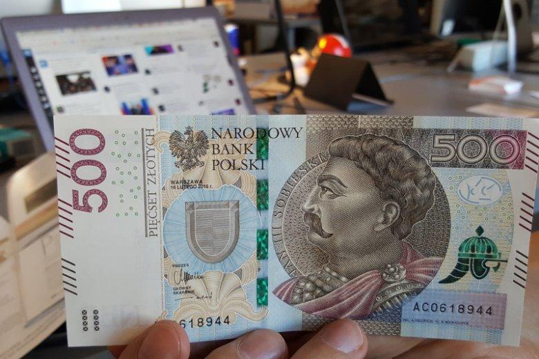 Nowy banknot 500 zł od dziś w obiegu.
