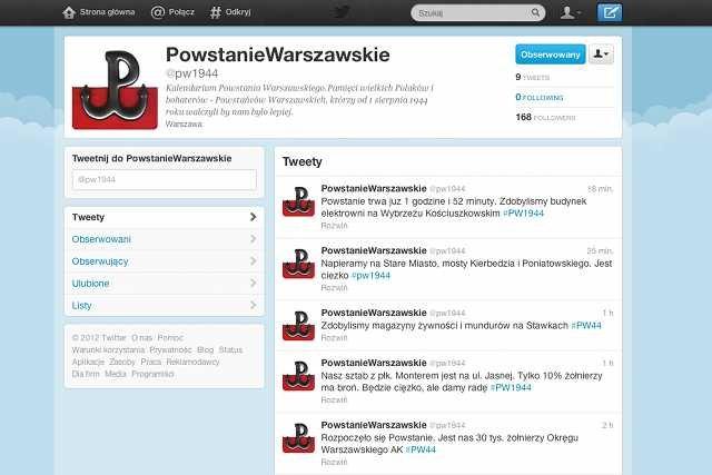 Zrzut ekranu konta @pw1944