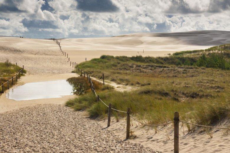 Park Narodowy w Łebie - słynne wydmy.