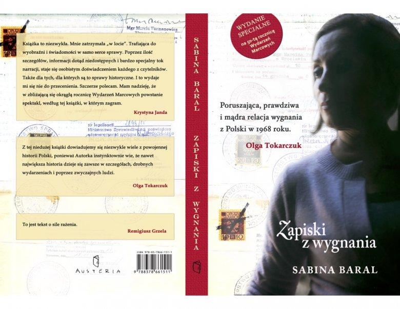 Sabina Baral Zapiski z wygnania /okładka wydania jubileuszowego/