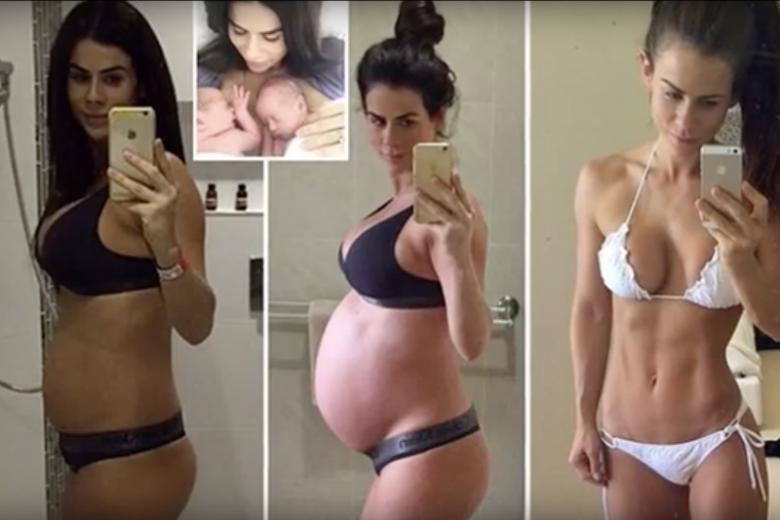 Fitness guru pokazała swoje zdjęcia dwa dni po porodzie. Media zestawiły je ze zdjęciami, które prezentowała wcześniej.
