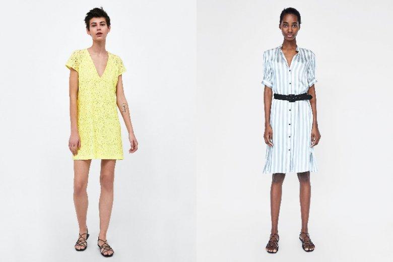 Odpowiedniej jakości materiał i dobrze dobrany fason pozwala na włożenie na wesele krótkiej sukienki. Zara: 139 zł, 199 zł