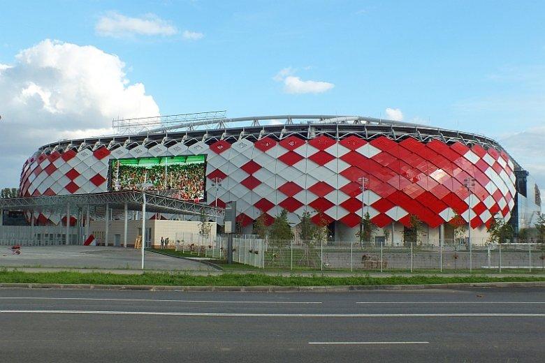 Otkrytije Ariena/Spartak Ariena, stadion piłkarski w Moskwie. Na jego murawie 19 czerwca Polacy stoczą swój pierwszy mecz na MŚ 2018, stając do walki z reprezentacją Senegalu