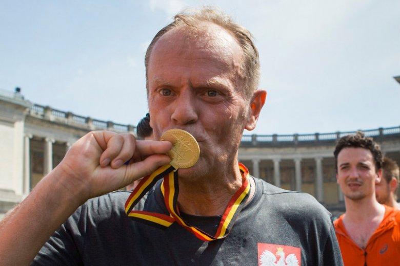 Donald Tusk wziął udział w zawodach biegowych na 20 km.