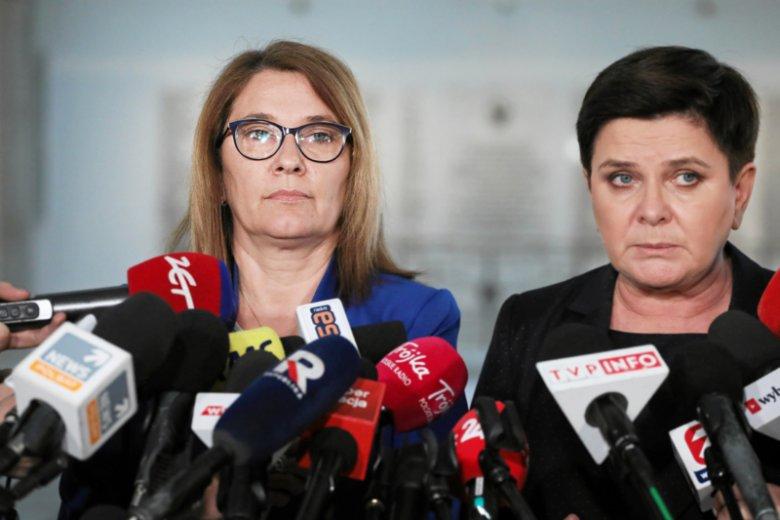 Beata Mazurek wymyśliła teorię mającą tłumaczyć klęskę kandydata PiS w wyborach wiceprzewodniczących PE.