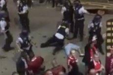 Nim rozpoczął się mecz Polski z Danią doszło do starcia kibiców. Jednego z nich duńscy policjanci brutalnie potraktowali.