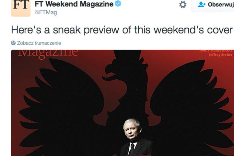 """""""Financial Times"""" uważa, że Kaczyński sprawuje władzę zza tronu."""
