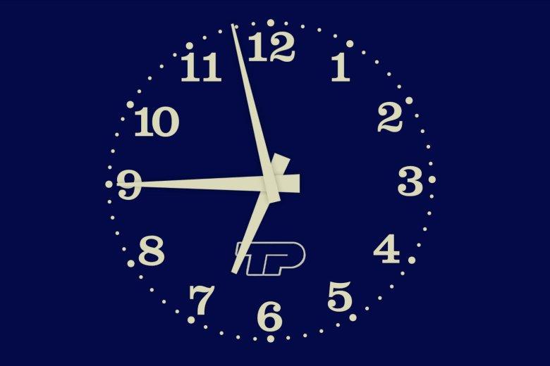 Jeden z symboli tamtych czasów - analogowy zegar TVP1