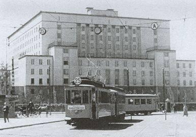 Pętla na Placu Narutowicza, lata 30-ste.