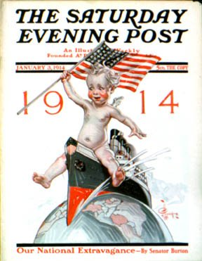 Nowy rok 1914 - Saturday Evening Post