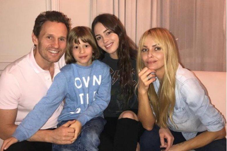 Izabella Scorupco z byłym mężem i dziećmi