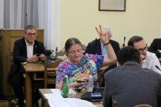 Krystyna Pawłowicz nie mogła powstrzymać się bez użycia kilku uwag w stronę opozycji w trakcie posiedzenia komisji.