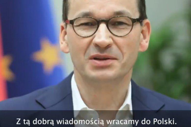 Mateusz Morawiecki przypisuje sobie sukces negocjacyjny Donalda Tuska.
