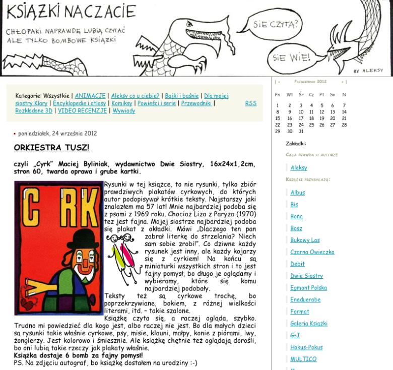 """Blog """"Książki na czacie"""""""