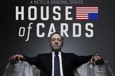 """Plakat nowego serialu """"House of Cards"""" z Kevinem Spacey'em w roli głównej, wyprodukowanego przez Netflix."""