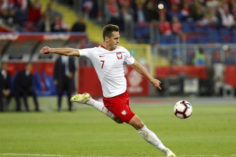 Arkadiusz Milik zdobył bramkę w meczu z Macedonią Płn.