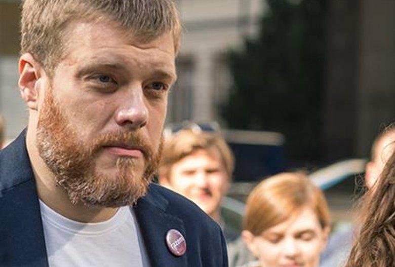 Adrian Zandberg z Partii Razem, przez wielu okrzyknięty zwycięzcą debaty przedwyborczej.