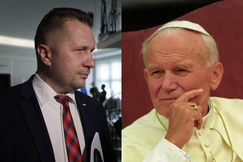 Przemysław Czarnek chce wprowadzić dzieła Jana Pawła II do kanonu lektur   naTemat.pl
