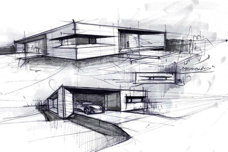 Szkic odręczny projektu EDOMI