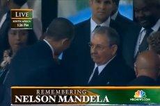 Podczas uroczystości żałobnych spotkali się m.in. prezydent USA Baracj Obama oraz prezydent Kuby Raul Castro