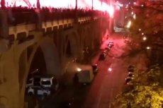 Raca poleciała na ciężarówkę zaparkowaną pod mostem Poniatowskiego