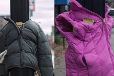 Niezwykły gest Brytyjczyków - zostawiają kurtki bezdomnym