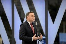 Andrzej Duda przemawiał w czwartek w Oświęcimiu.