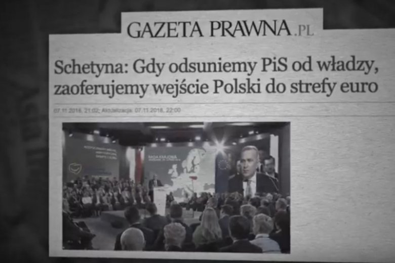 W nowym spocie wyborczym PiS uderza w polityków Koalicji Europejskiej.