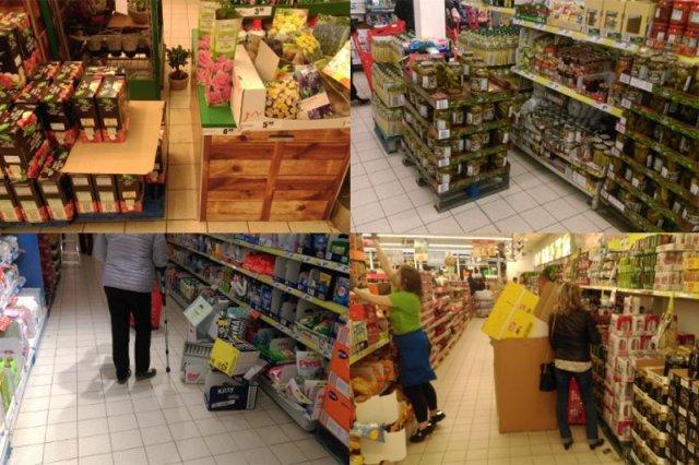 Zakupy w marketach to często przymus. Jest ciasno i nieprzyjemnie.