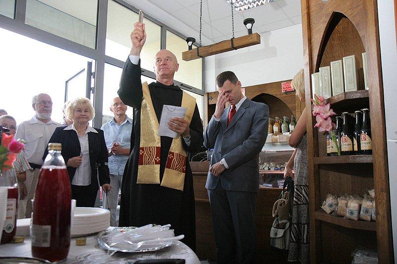 Otwarcie sklepu benedyktyńskiego w Warszawie