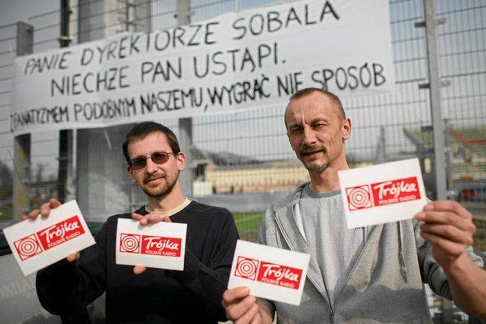 Protest przeciwko Jackowi Sobali