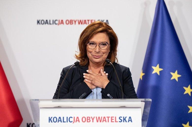 Małgorzata Kidawa–Błońska kilka tygodni temu została liderką kampanii wyborczej Koalicji Obywatelskiej. W przypadku zwycięstwa opozycji ma zostać premierką.