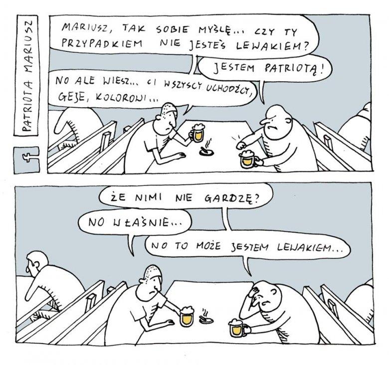 rysunek pochodzi z fanpage'a Patriota Mariusz