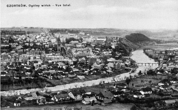 Panorama Czortkowa, zdjęcie wykonane przed rokiem 1939.